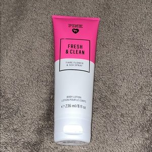 Fresh and clean pink lotion
